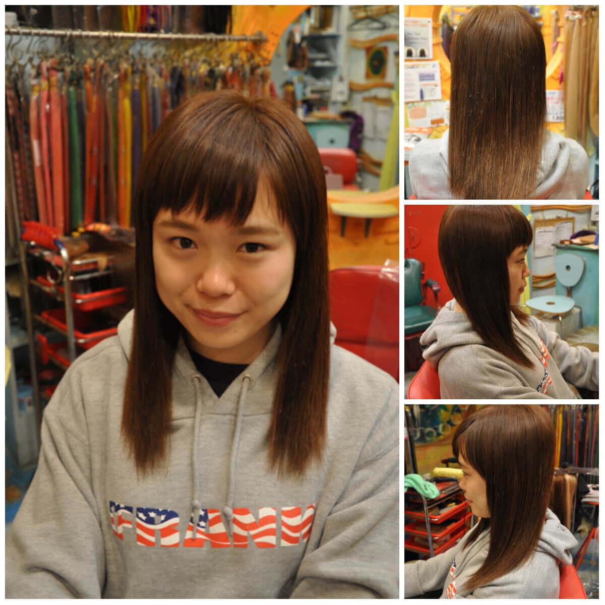 日本一馴染むエクステ専門店セクション Before & After ショートにエクステ After