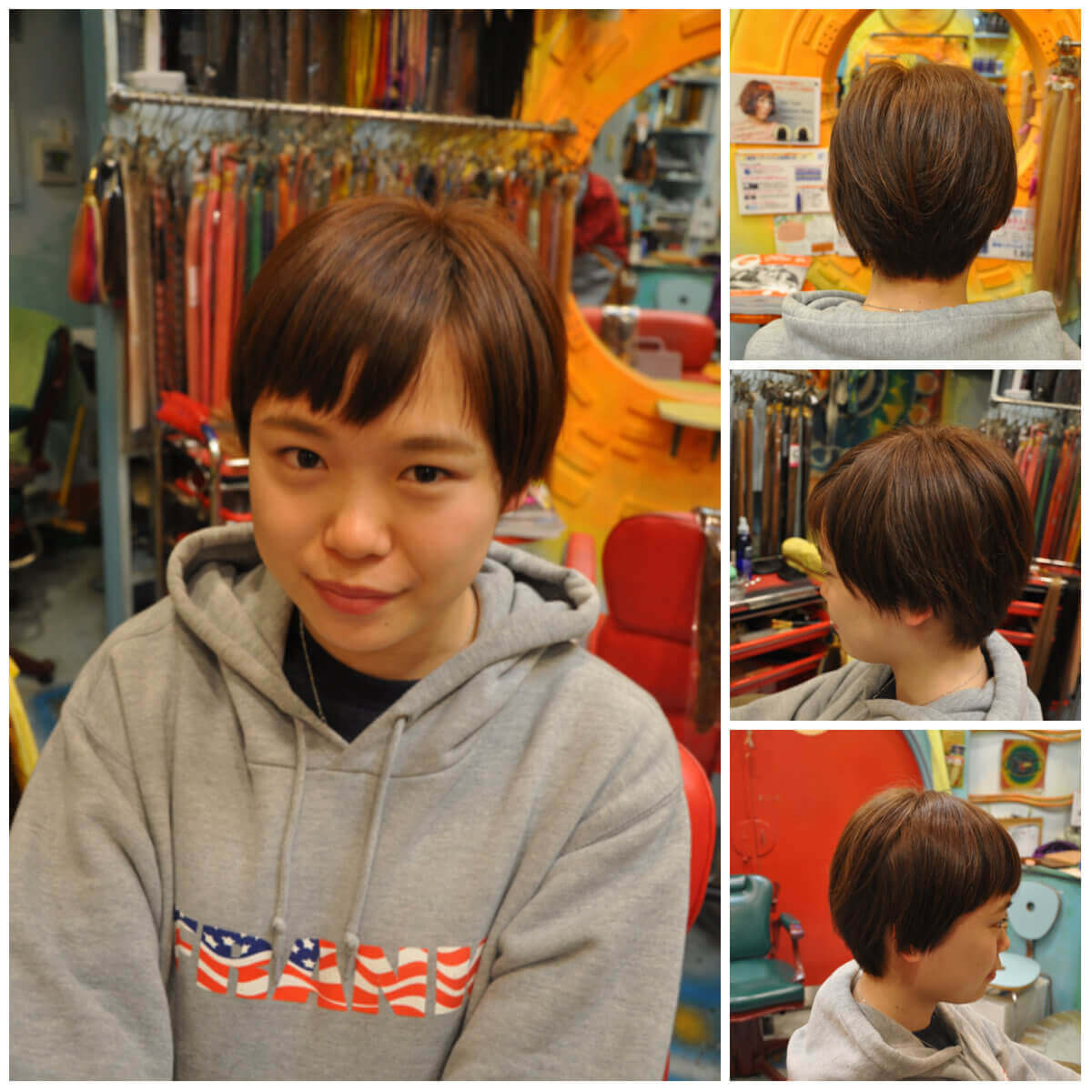 日本一馴染むエクステ専門店セクション Before & After ショートにエクステ Before