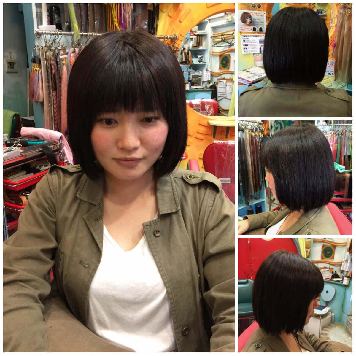 日本一馴染むエクステ専門店セクション Before & After ショートをボブに変身 After