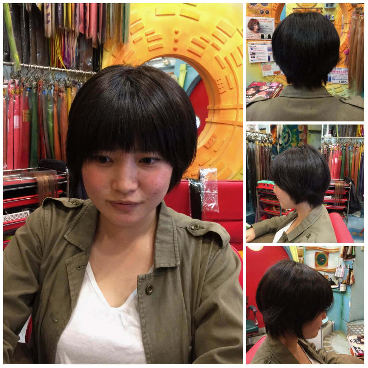 日本一馴染むエクステ専門店セクション Before & After ショートをボブに変身 Before