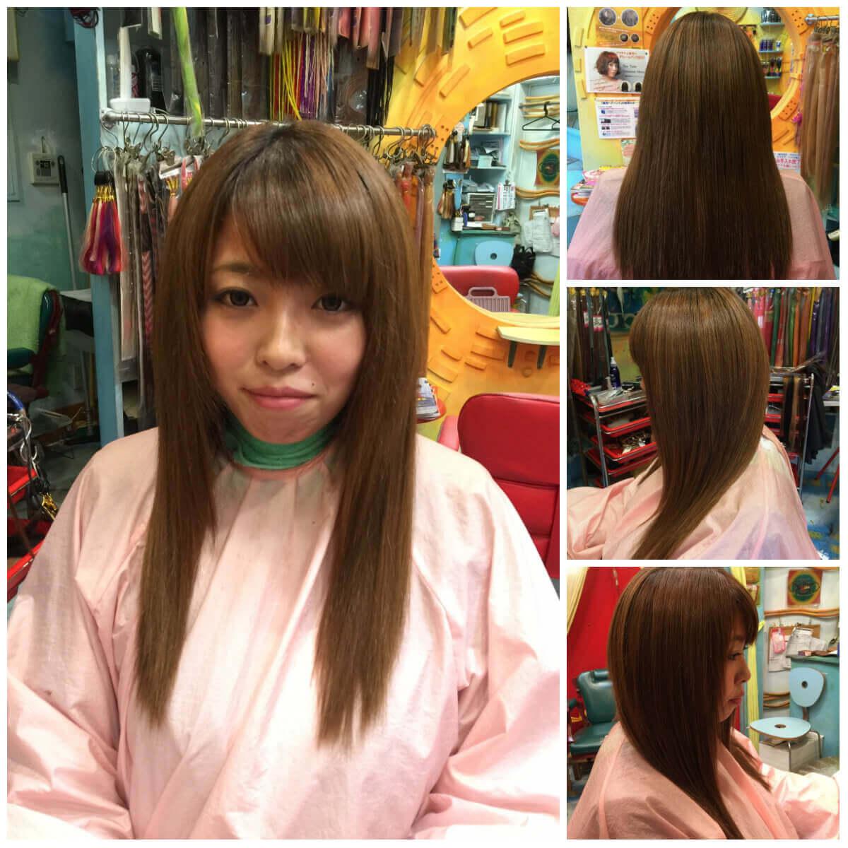 日本一馴染むエクステ専門店セクション Before & After 重めぱっつんボブにエクステ After