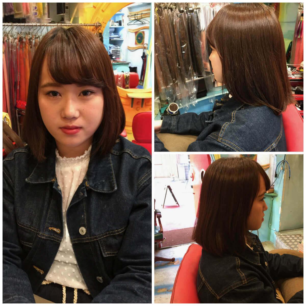 日本一馴染むエクステ専門店セクション Before & After ボブにエクステ⑦ Before