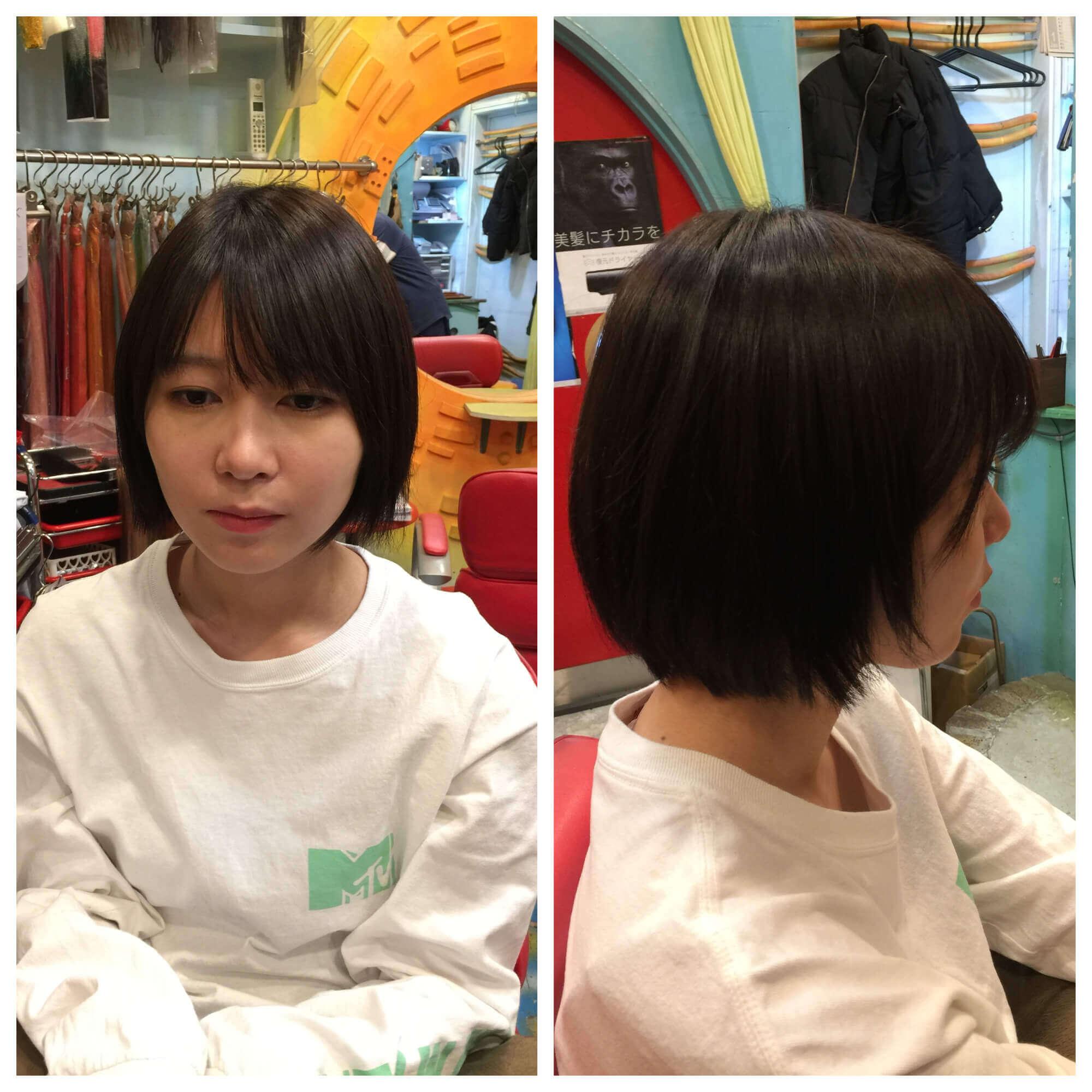 日本一馴染むエクステ専門店セクション Before & After ボブからインナーカラーでロング Before