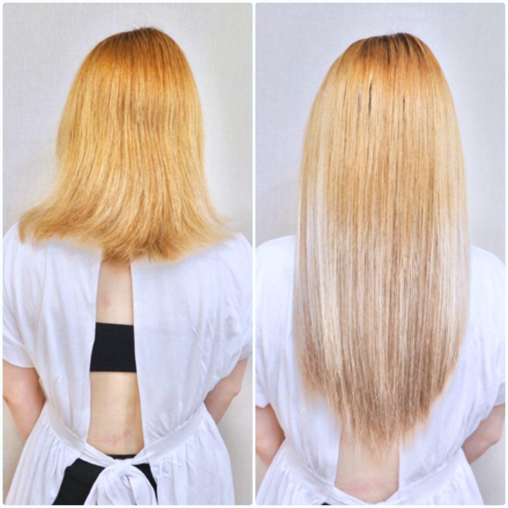 ミディアム エクステ 髪型